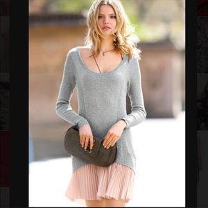 Victoria's Secret KISS of Cashmere stripe dress S